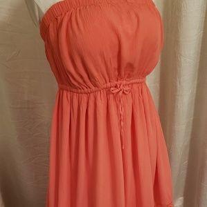 NWT Torrid gauze maxi dress, crochet design 2x